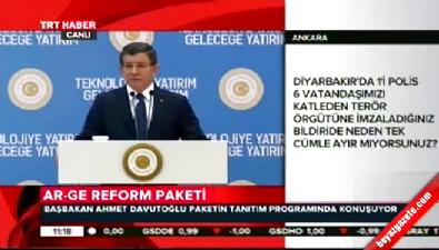 Davutoğlu'ndan o akademisyenlere: Neden PKK'yı eleştirmiyorsunuz?