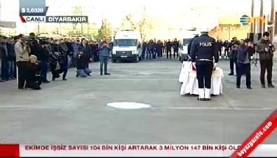 Şehit polis memuru ve kızı için tören