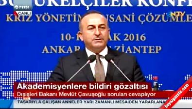 Bakan Çavuşoğlu: Teröre destek vermek ifade özgürlüğü değildir
