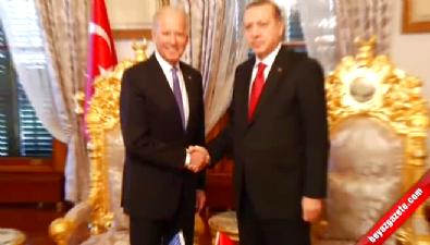 Cumhurbaşkanı Erdoğan ile Biden bir araya geldi