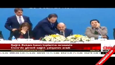 Sağlık Bakanı toplantıda Cizre'ye bağlandı