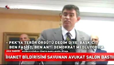 Metin Feyzioğlu'na protesto