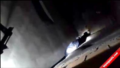 Polis molotof atıp kaçan PKK'lıları saklandıkları yerde böyle yakaladı