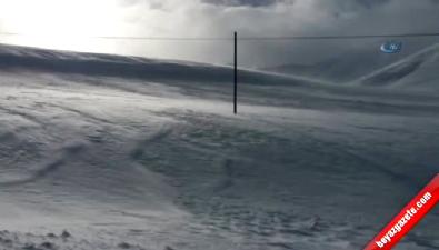 Kar fırtınası böyle görüntülendi