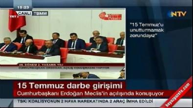 Cumhurbaşkanı Erdoğan'ın yeni yasama yılı açılış konuşması
