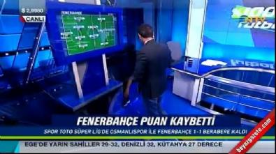 Rıdvan Dilmen Osmanlıspor-Fenerbahçe maçındaki penaltı pozisyonunu stüdyoda canlandırdı