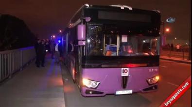 Okmeydanı'nda Yolcu Otobüsüne Molotoflu Saldırı