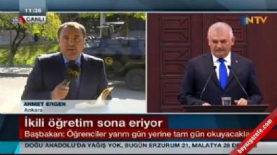 Başbakan Yıldırım'dan flaş açıklama: Sabahcı, öğlenci olayı kalkıyor.. Okul saatleri değişiyor