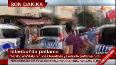 İstanbul'da Yenibosna'da Şirinevler 75. yıl polis merkezi yakınlarında patlama!