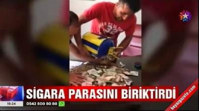 17 aylık sigara parasını biriktirdi.. Çıkan rakama kendisi bile şaşırdı!