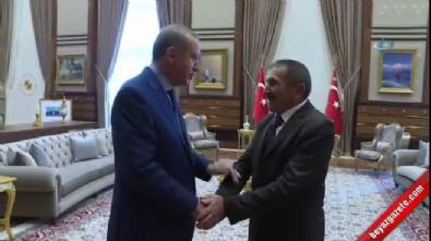 Cumhurbaşkanı Erdoğan 15 Temmuz gazisiyle böyle sarıldı