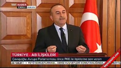 Dışişeri Bakanı Çavuşoğlu'dan AB'ye sert yanıt