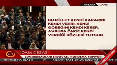 Cumhurbaşkanı Erdoğan referandumu işaret etti