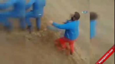 Ralli aracı defalarca takla attı