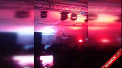 Aleyna Tilki'nin konserine saldırı anı kamerada