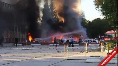 Adana'daki patlamadan sonra yangın çıktı