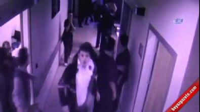 Hasta yakınlarının saldırısı kameralara yansıdı