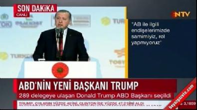Cumhurbaşkanı Erdoğan ABD'deki başkanlık seçimi hakkında konuştu