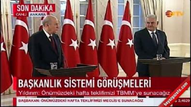 Başbakan ve Bahçeli ortak açıklamalarda bulundu