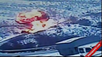 Tanker ile TIR çarpıştı...Feci kaza kamerada
