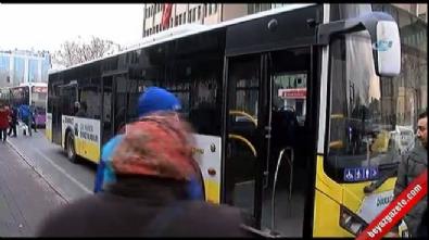 Küçük çocuğun İETT otobüsünde yaşadığı dehşet kamerada