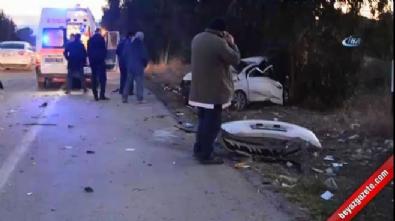 İşçileri taşıyan minibüsle otomobil çarpıştı: 1 ölü 1'i ağır 9 yaralı