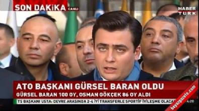 Osman Gökçek'ten ATO seçim açıklaması