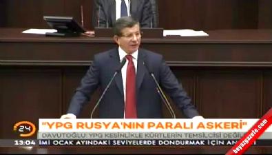 Davutoğlu: YPG Rusya'nın paralı askeridir