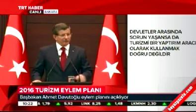 Başbakan Davutoğlu Turizm Eylem Planı'nı açıkladı