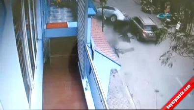 Yanlış yöne giren kadın sürücü dehşet saçtı