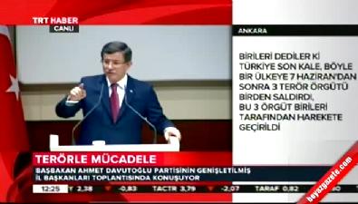Başbakan Davutoğlu AK Parti Genişletilmiş İl Başkanları Toplantısı'nda konuştu