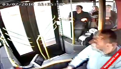 Belediye otobüs şoförü rahatsızlanan yolcunun hayatını böyle kurtardı