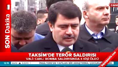 İstanbul Valisi Vasip Şahin: Canlı bombayla birlikte 5 kişi öldü, 19 yaralı var