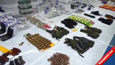 Diyarbakır Bağlar'da Ele Geçirilen Silah ve Mühimmatlar Herkesi Şaşırttı!