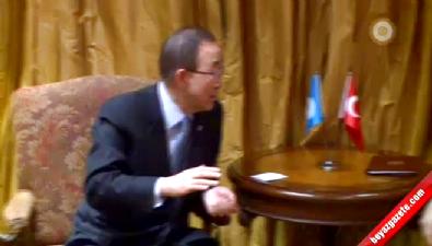 Davutoğlu Ban Ki-moon ile görüştü