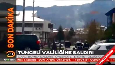 Tunceli Valiliği ve Adliye Binası Önündeki Polis Noktasında Çatışma!