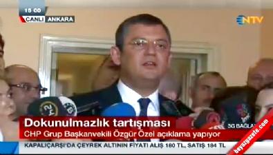 CHP Grup Başkanvekili Özgür Özel'den dokunulmazlık açıklaması