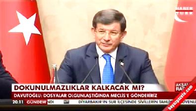Davutoğlu: HDP'lilerle ilgili fezlekeleri Meclis'e göndereceğiz
