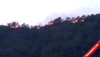 Marmaris'teki orman yangını büyüyor