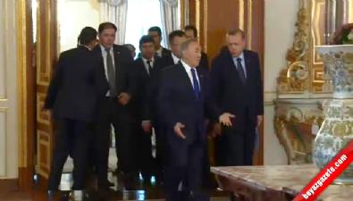 Erdoğan ve Nazarbayev'le görüştü