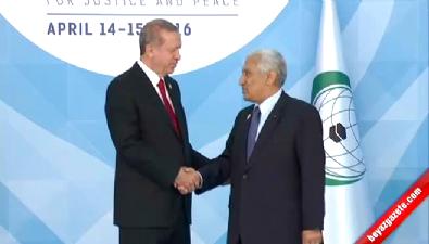 Cumhurbaşkanı Erdoğan konuklarını böyle karşıladı