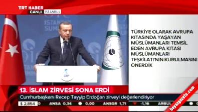 Cumhurbaşkanı Erdoğan İslam İşbirliği Zirvesi'nin kapanış konuşmasını yaptı