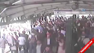 Metrobüs şoförünün dikkati faciayı önledi