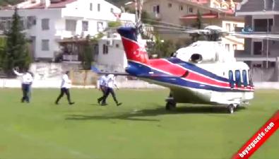Emir Sarıgül helikopterle yatına bakmaya geldi