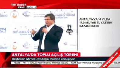 Davutoğlu'ndan Antalyalılara müjde