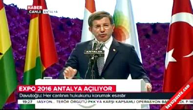 Başbakan Davutoğlu'nun EXPO 2016 konuşması