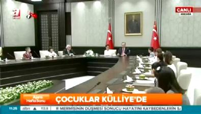 CumhurBaşkanı Erdoğan koltuğunu devrederken konuştu