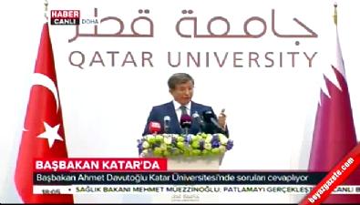 Başbakan Katar Üniversitesi'nde konuştu