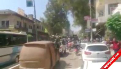 ÖSO mensuplarının cesetlerini korna eşliğinde sokaklarda gezdirdiler