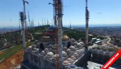 Çamlıca Camisi havadan görüntülendi